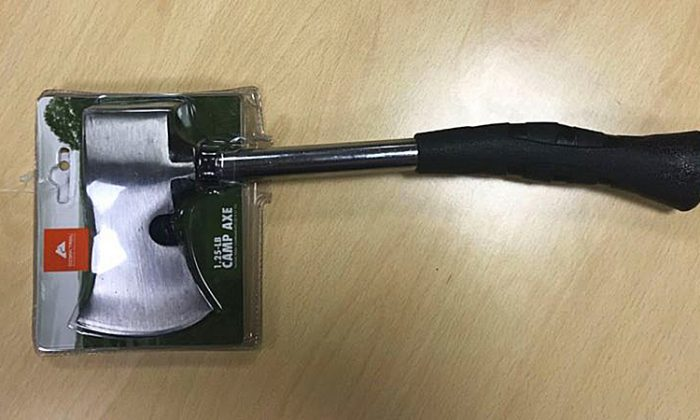 Walmart is recalling 246,000 of these Ozark Trail brand camp axes because the heads can fly off. (US Consumer Product Safety Commission)