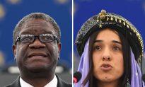 Nobel Peace Prize Won By Campaigners Against Rape in Warfare Denis Mukwege and Nadia Murad