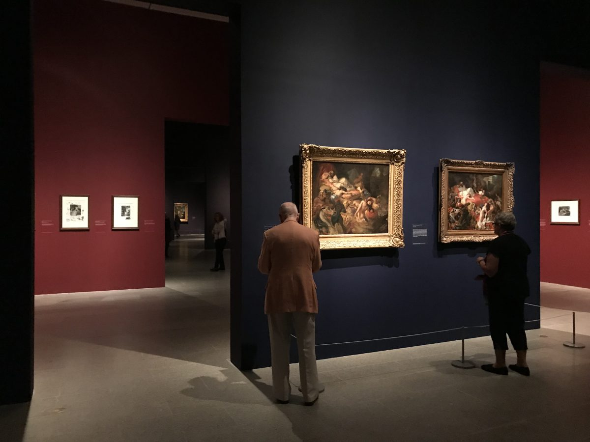 "Gallery view of the ""Delacroix"" retrospective at The Metropolitan Museum of Art on September 12, 2018 (Milene Fernandez/The Epoch Times)."