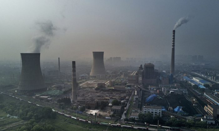 A Chinese state owned coal-fired power plant is seen in Huainan, Anhui province, China, June 16, 2017. (Kevin Frayer/Getty Images)