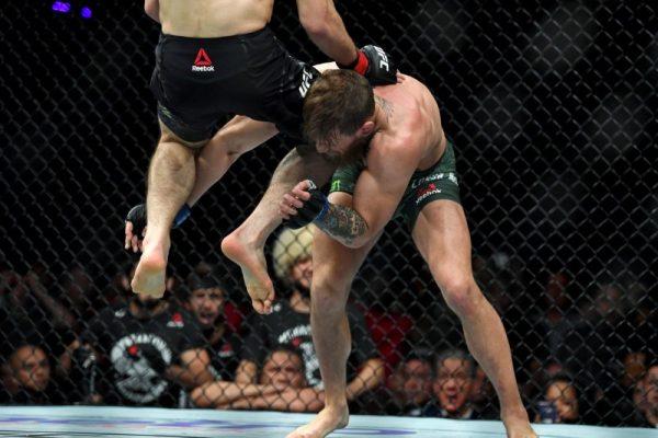 Khabib jumps at McGregor