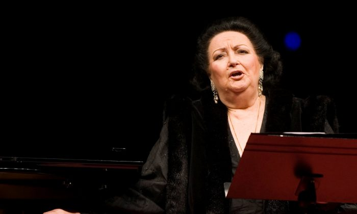 Spanish soprano Montserrat Caballe performs during a concert at Burgos' Cathedral, northern Spain, on Feb. 16, 2007. (Reuters/Felix Ordonez/File Photo)