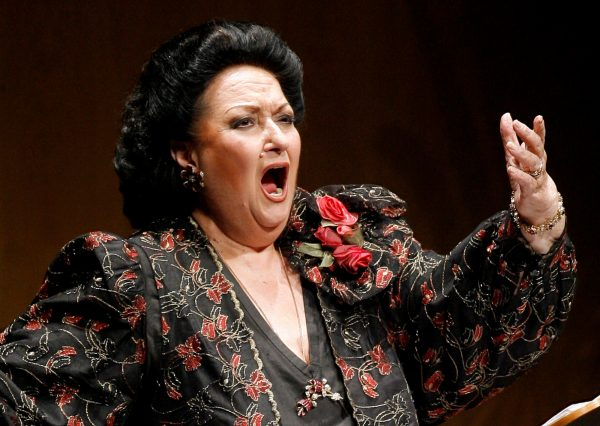 Spanish soprano Montserrat Caballe performs