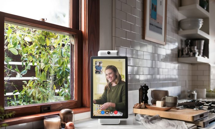 A smart speaker device by Facebook Inc. called Portal+ is shown in this photo released by Facebook Inc. from Menlo Park, California, on Oct. 5, 2018. (Facebook Inc./Reuters)