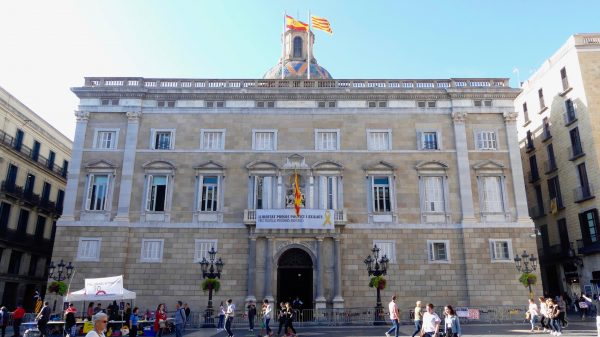 Palau de la Generalitat, the seat of the government of Catalonia.