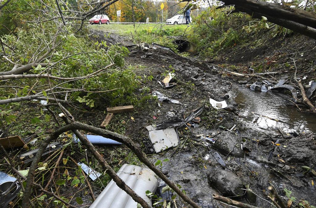 Debris at Limousine Crash Site