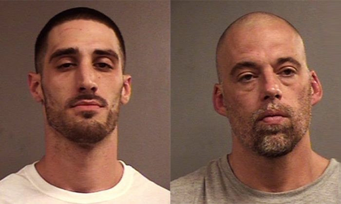 Justin Stumler (L) and Jeremy Hunt broke out of Louisville Metro Corrections Center on Oct 6 and were both apprehended on Oct. 8, 2018. (Louisville Metro Corrections)