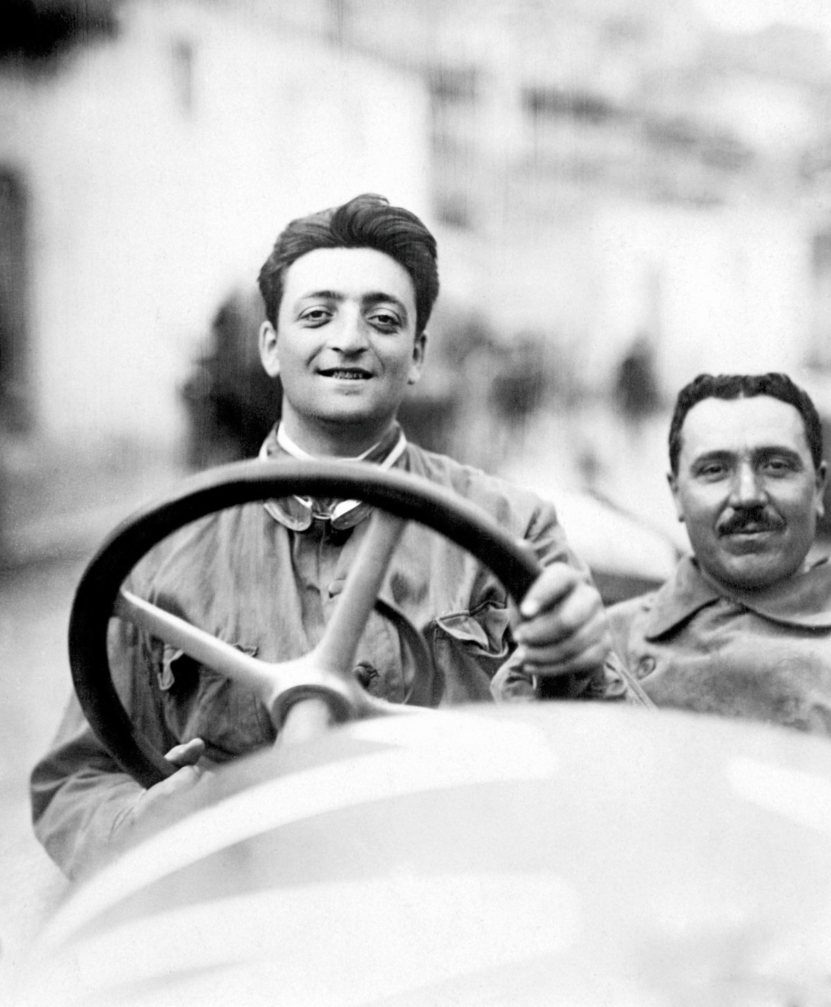 Enzo Ferrari at the Targa Florio