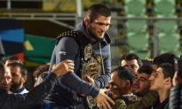 Nurmagomedov Gets Swarmed in Russian Arena After Returning Home From McGregor Fight