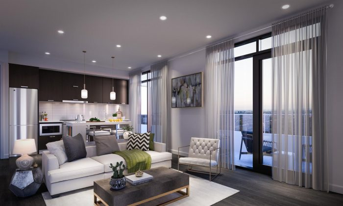Living room. (Courtesy Verdé Condos)