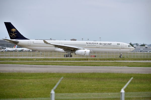 Saudia flight lands in Toulouse