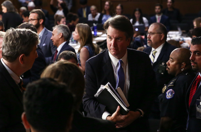 Justice Brett Kavanaugh during the third day of his confirmation hearing at the Capitol on Sept. 6, 2018. Kavanaugh was confirmed to the Supreme Court by the Senate on Oct. 6, 2018.  Samira Bouaou/The Epoch Times