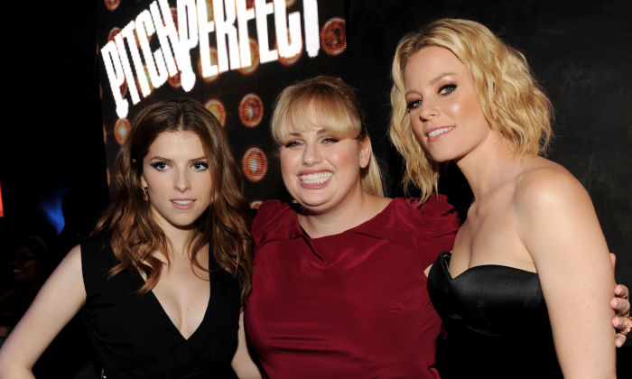 (L-R) Anna Kendrick, Rebel Wilson and Elizabeth Banks pose at the after party for 'Pitch Perfect' at Lure  in Los Angeles on Sept. 24, 2012. (Kevin Winter/Getty Images)