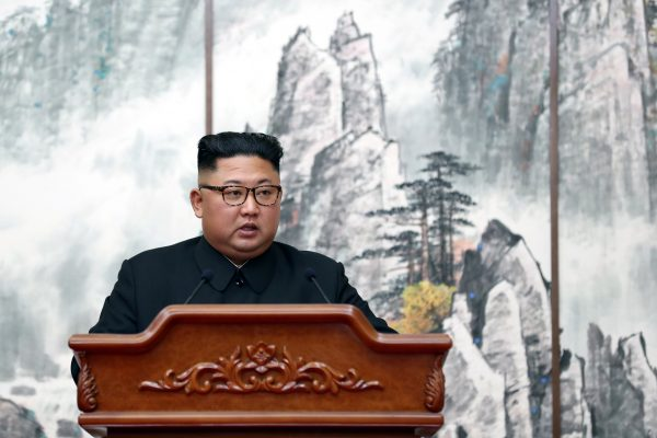 North Korean leader Kim Jong Un speaks