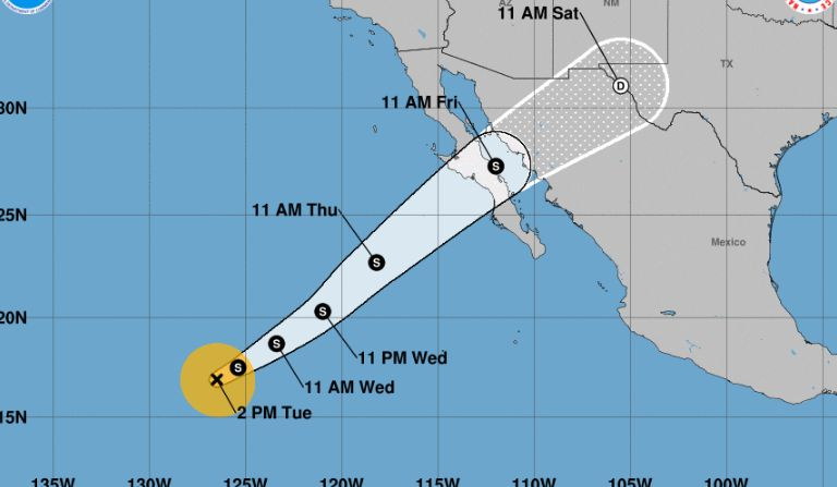 tropical storm sergio in the pacific