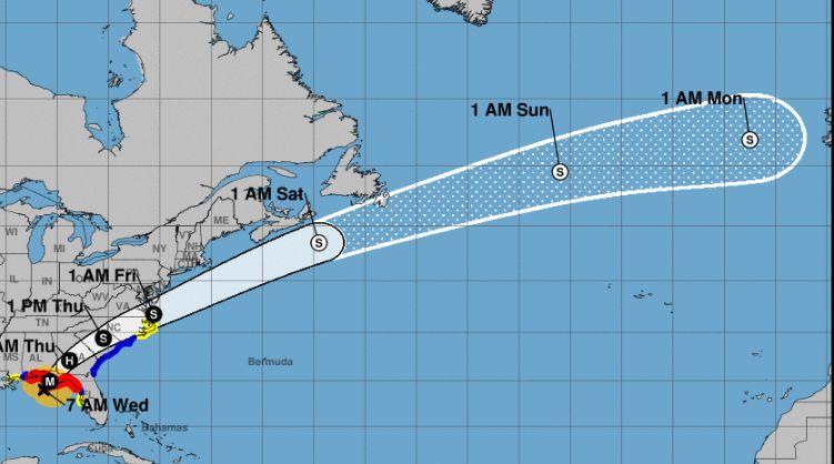 hurricane michael will pass over florida
