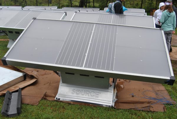 A Zero Mass panel that helps produce water from moisture in the atmosphere.