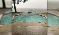 Video: Florida Man Takes a Swim in Pool Before Hurricane Michael