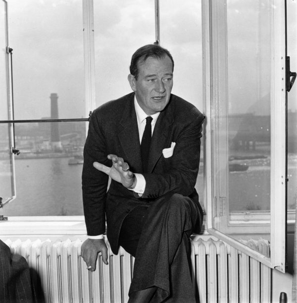 John Wayne smoking