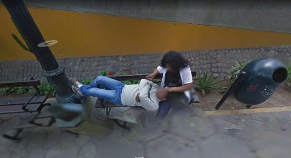 Man and woman in Barranco