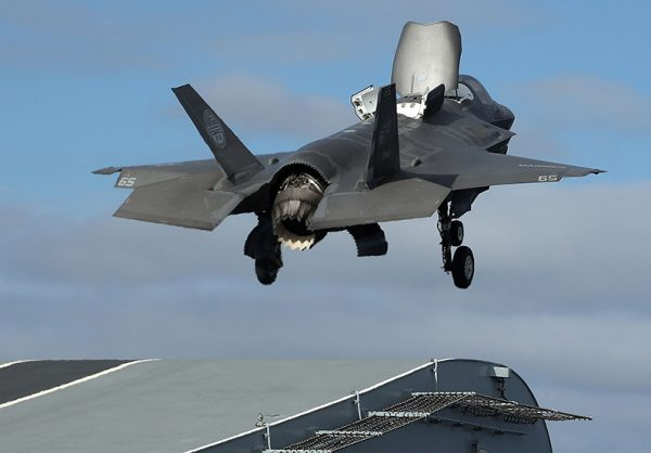 A new F-35B Lightning fighter jet takes off