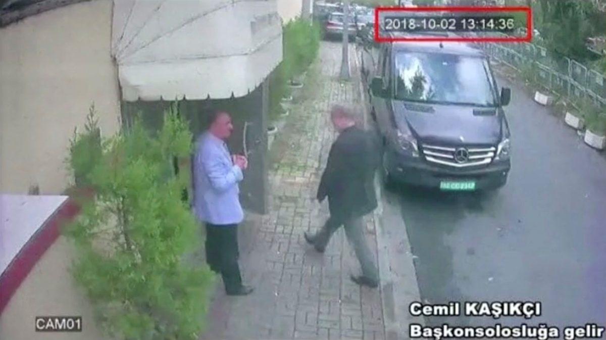 CCTV reportedly showing Jamal Khashoggi at the Saudia Arabia Consulate