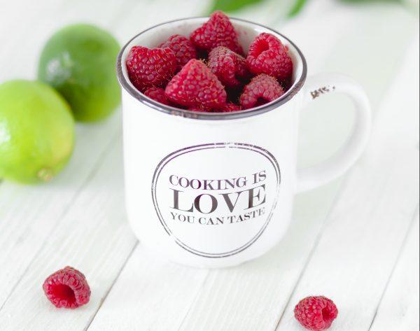 cup of raspberries