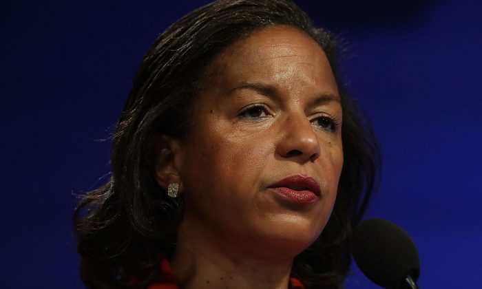 Susan Rice participates in a discussion Oct. 14, 2016 at the Woodrow Wilson Center in Washington, DC. (Alex Wong/Getty Images)