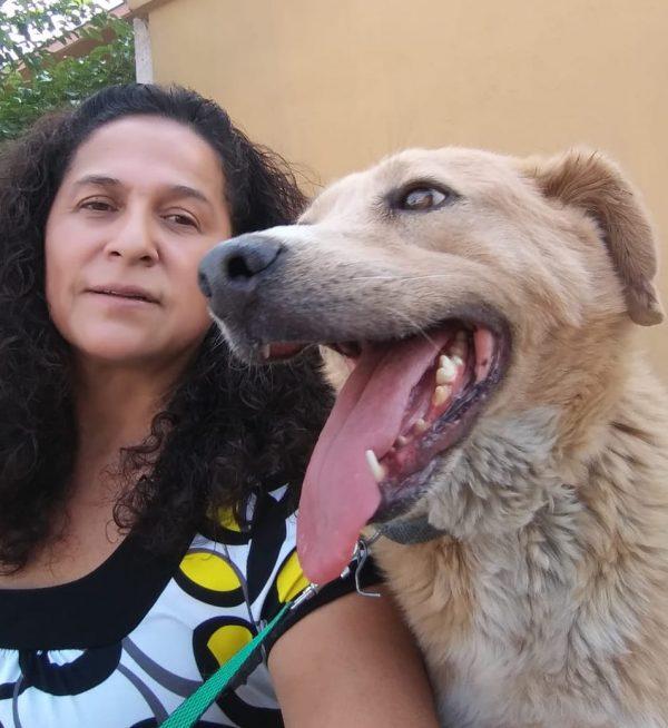 Ana Gloria Hernandez Felix at her dog shelter.