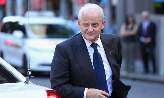 Former Immigration Minister Philip Ruddock arrives at the memorial service for Margaret Whitlam at St James Anglican Church on Mar. 23, 2012 in SYDNEY, Australia. (Cameron Spencer/Getty Images)