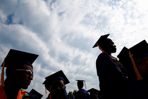 Graduates are seen at the 150th commencement ceremony at Howard University in Washington, on May 12, 2018. (Reuters/Eric Thayer)