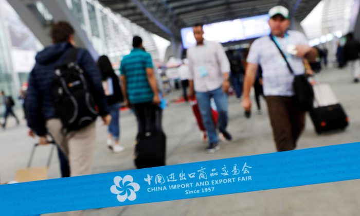 Visitors attend the China Import and Export Fair, also known as Canton Fair, in the southern city of Guangzhou, China on April 16, 2018. (Tyrone Siu/Reuters)