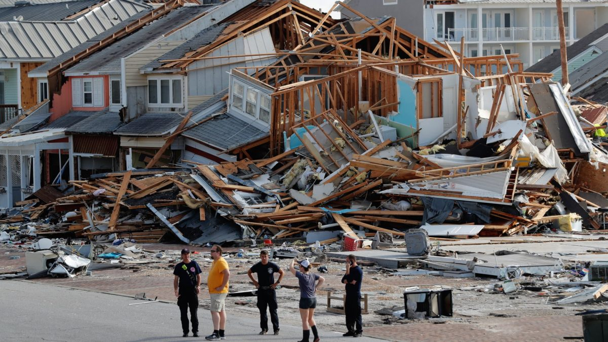 personnel perform search aftermath Hurricane