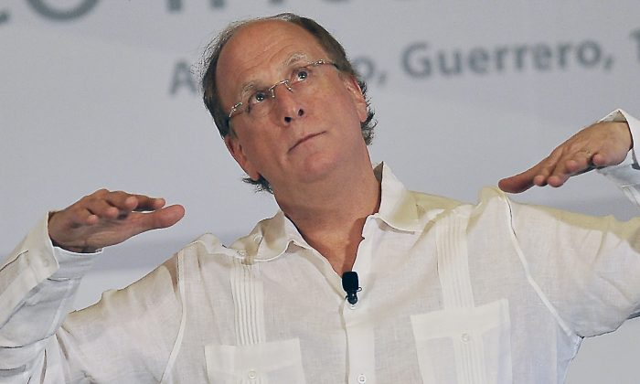 BlackRock CEO Larry Fink during the the 79th Annual Convention of Bankers in Acapulco, Mexico, on March 11, 2016. (Pedro Pardo/AFP/Getty Images)