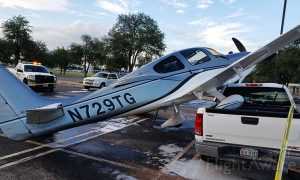 Light Plane Crash-Lands on Car in Texas Parking Lot