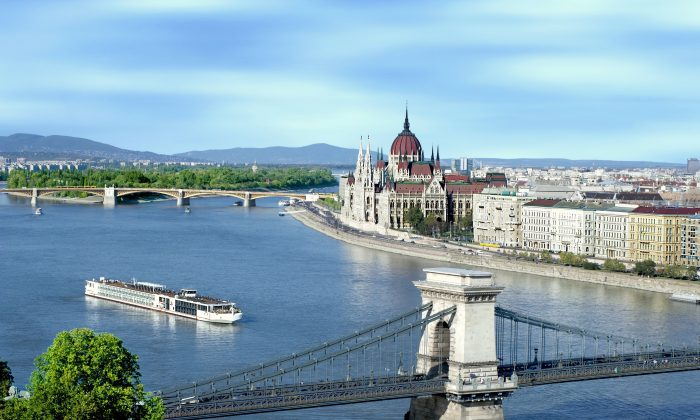 The Viking Ship Odin on the Danube River in Budapest Hungary. (Viking River Cruises)