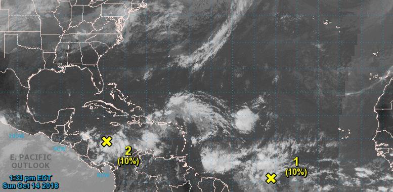 nhc advisories over low pressure