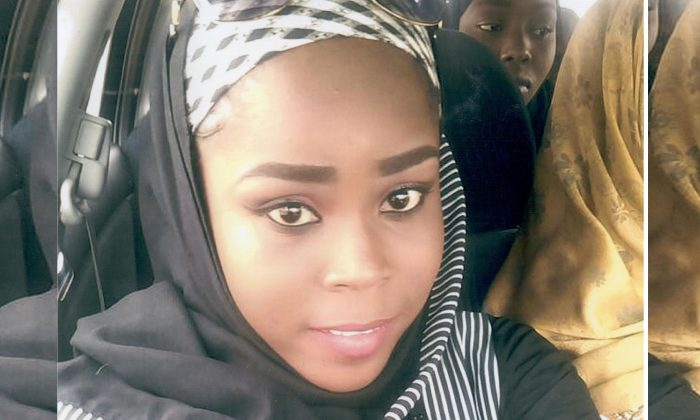 Medical worker Hauwa Mohammed Liman, who was held hostage by Islamic State in Nigeria since March, is pictured in this handout photograph obtained by Reuters on Oct. 14, 2018. (ICRC/Handout via Reuters)