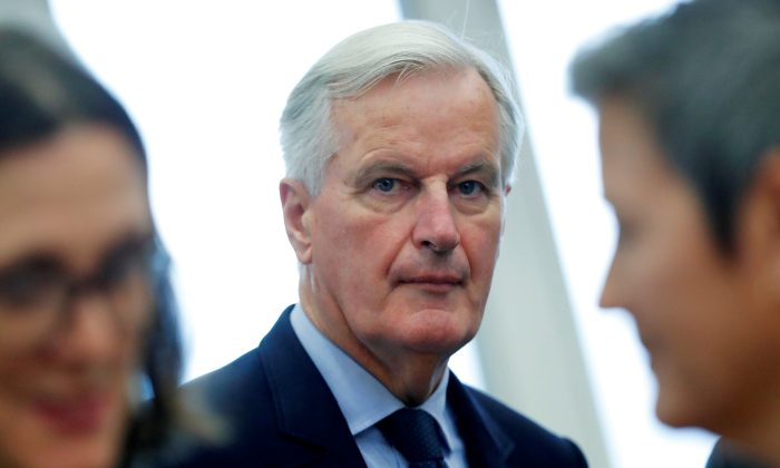 European Union's Brexit negotiator Michel Barnier takes part in the EU Commission's weekly college meeting in Brussels, Belgium, on Oct. 10, 2018. (Yves Herman/Reuters)