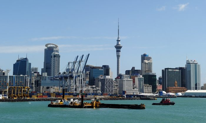 A general view of the Auckland City skyline in New Zealand on Oct. 20, 2011. (PAUL ELLIS/AFP/Getty Images)