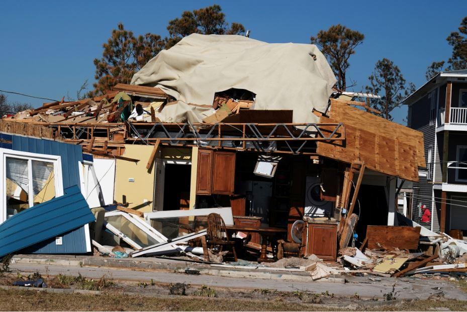 Home ruined by Hurricane Michael