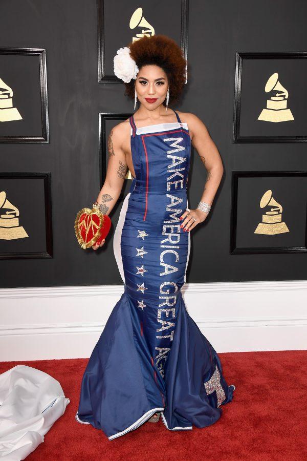 Joy Villa's Make America Great Again dress