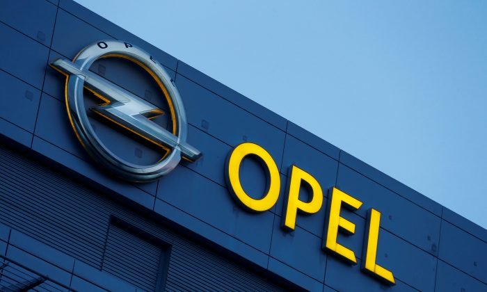 An Opel logo is pictured in Ruesselsheim, Germany, on July 4, 2018. (Ralph Orlowski/Reuters)