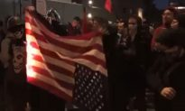 Video: Antifa Burns American Flag in Portland Brawl; Someone Saves It From Flames