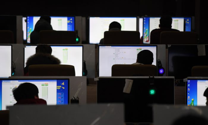 Students sit an exam in a computer room at a technical school in Jinan, in China's eastern Shandong Province on Jan. 29, 2018. (GREG BAKER/AFP/Getty Images)