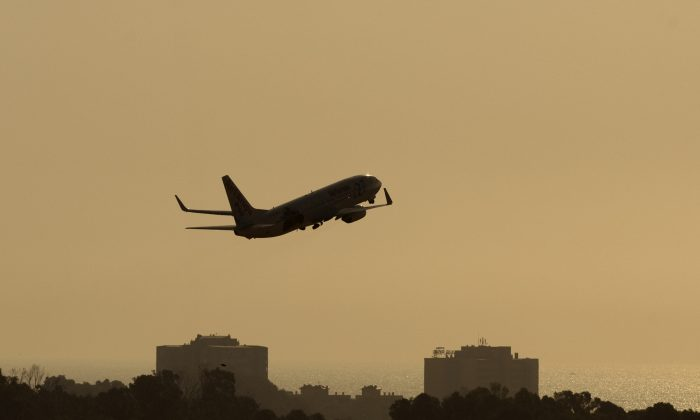 A plane takes off from Malaga's airport on Sept. 22, 2011. (Jorge Guerrero/AFP/Getty Images)
