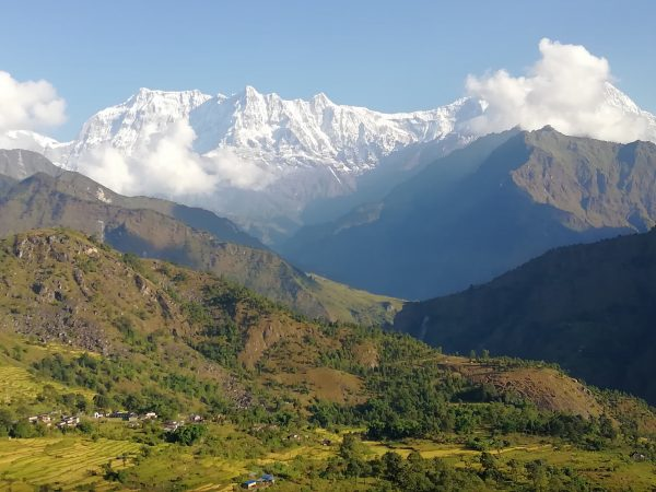 Mount Gurja, which lies in Myagdi district in mid-western Nepal.