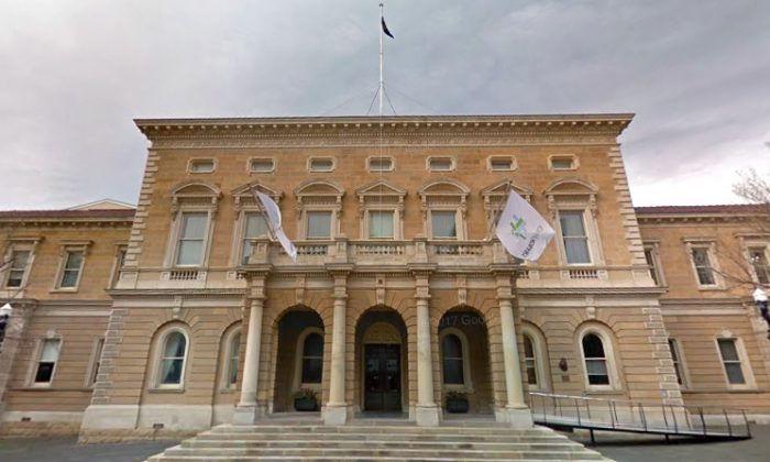 A screenshot from Google Maps shows Hobart Town Hall in Australia. (Screenshot via Google Maps)