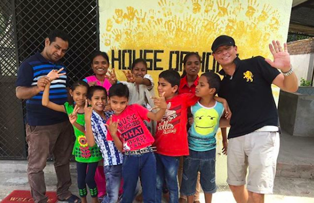 The House of Hope kids with Hughes and Patil