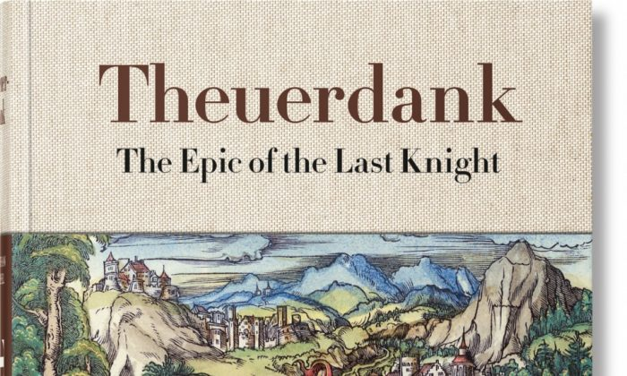 """""""Theuerdank: The Epic of the Last Knight,"""" clothbound with 2-color silk-screen illustration, 6.7 inches x 9.4 inches. (Taschen)"""